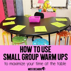 Use Small Group Reading Warm Ups To Maximize Your Time At The Small Group Table: Sight Word Ideas and Activities, Fluency and Book Baskets, and Organization Ideas! Small Group Reading, Guided Reading Groups, Reading Centers, Reading Workshop, Reading Strategies, Teaching Reading, Small Group Table, Reading Games, Teaching Ideas