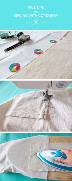 Five tips for sewing with corduroy fabric - Tilly and the Buttons Sewing Aprons, Dress Sewing Patterns, Sewing Patterns Free, Sewing Clothes, Sewing Hacks, Sewing Tutorials, Sewing Tips, Tilly And The Buttons, Sewing Machine Embroidery