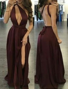 Sexy Burgund Convertible Prom Dresses Sweep Train with Split Side · Grace Girls Dress · Online Store Powered by Storenvy Cute Prom Dresses, Girls Dresses, Formal Dresses, Wedding Dresses, Dress Prom, Dress Skirt, Dress Shoes, Shoes Heels, Mode Outfits