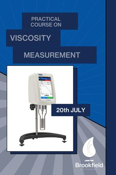 Get the most out of your AMETEK Brookfield viscometer! 👉Attend our Practical Course on Viscosity Measurements on 20th July. You will learn proper test method procedures and types of fluid behaviour through information, activities, and techniques that can be easily understood and applied. For more information on the course, please contact brookfield-support.de@ametek.com Center Of Excellence, Training Schedule, Centre, University, Europe, How To Apply, Activities, Learning, Studying