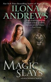 Kate Daniels, Tome 5 - Magic Slays, d'Ilona Andrews  Chronique : http://livrementvotre.blogspot.fr/2013/12/kate-daniels-tome-5-magic-slays-dilona.html