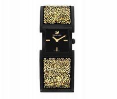 Swarovski Jewellery - Watches - Crystalline Black & Gold Bangle Watch