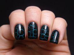 Chalkboard Nails: LCN Croco Fever Topcoats