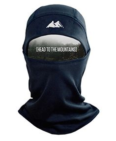 Mountain Made Balaclava Thermal Polyester Fleece Face Mask Black One Size * Details can be found by clicking on the image. Note: It's an affiliate link to Amazon