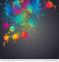Dirty background with colorful splatters Free Vector