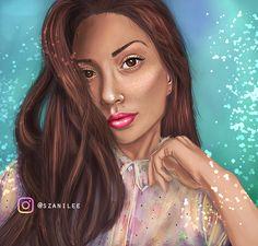 Digital portrait painting by Szani Lee ( Instagram: @szanilee)