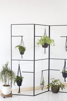 Black Metal Leaning Plant Kitchenware Towel Display Ladder A versatile display ladder for plants, bathroom linens, or kitchen pots and accessories. Welded Steel frame in matte black.