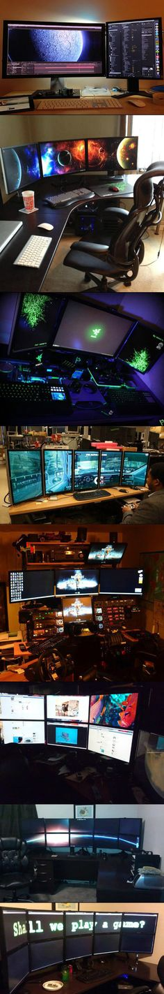 Mine looks something like this but not as many monitors, I think I have 6