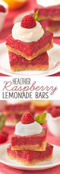 These raspberry lemon bars have a creamy, honey-sweetened filling and a buttery 100% whole grain crust!