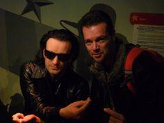 Bono en Henk-Jan in Madame Tussauds Amsterdam