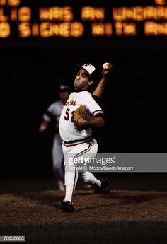 Oct 1983 - Baltimore Orioles pitcher Mike Boddicker strikes out a playoff-record 14 batters en route to a 4 - five-hit victory over the Chicago White Sox in the second game of the ALCS. Usc Basketball, Basketball Court Layout, Basketball Game Tickets, Baseball Playoffs, Basketball Scoreboard, Basketball Uniforms, Basketball Legends, Baltimore Orioles, Chicago White Sox