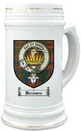 Bairnson Clan Crest / Clan Badge 22 oz. Stein Mug
