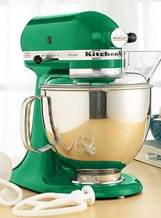 I covet this. $303 shipped! IT'S GREEN!!!!! Please Santa put this in my kitchen!