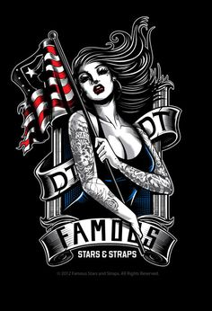 American Beauty Design done for Famous Stars and Straps. Get it at: www.famoussas.com