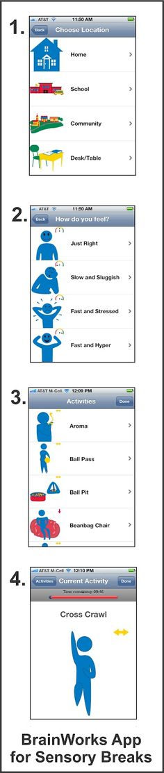 App Review: BrainWorks for Sensory Breaks. From Your Therapy Source. Pinned by SOS Inc. Resources @sostherapy.