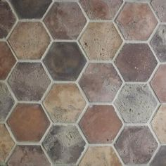 Handmade hexagon cement tiles for floors or walls that provide a rustic look. Classic colors create a vintage look. Choose other colors for a contemporary look.