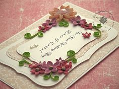 Made in Kilkenny wedding card floral quilling