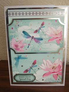 Lily and dragonfly from Hunkydory's dragonfly wishes.