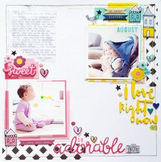 Scrapbooking Process- Hip Kit Club August 2016- Crate Paper Cute Girl