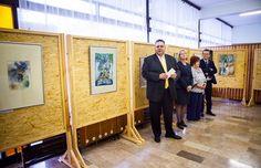 Rómer Ilona akvarelljeivel nyitott a Szarvasi Járási Hivatal minigalériája