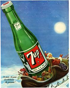 He Works Up A Mighty Big Thirst Ghost Of Christmas Past, Retro Christmas, A Christmas Story, Vintage Soft, Vintage Ads, Vintage Posters, Old Advertisements, Advertising Ads, Great Ads