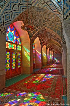 Iran | Nasir al-Mulk Mosque in Shiraz.