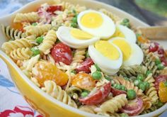 This summer garden pasta salad is a great stage for all of those delicious veggies: