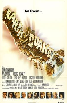 """MP623. """"Earthquake"""" Movie Poster by Joseph Smith (Mark Robson 1974) / #Movieposter"""