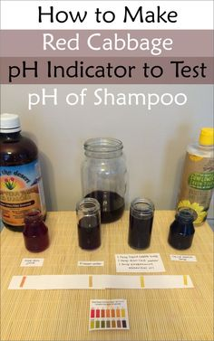 Curious about whether your shampoo is #pHbalanced? Make your own pH indicator with red cabbage!
