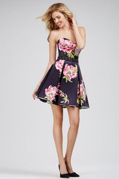 Strapless Short Jovani Cocktail Dress 28880