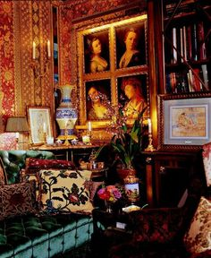 Gorgeous eclectic interior design - I would love to sit in this space for a few moments! - Howard Slatkin