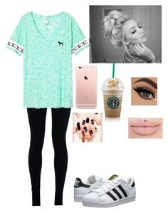"""Untitled #296"" by lushyou ❤ liked on Polyvore featuring NIKE, adidas Originals and Victoria's Secret"
