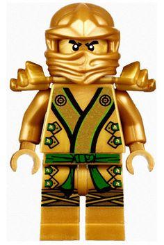 Lego Ninjago Gold Ninja Lloyd  BIG  Peel and Stick REUSEABLE Wall Sticker Wall Decal Wall Mural Wall Art. $32.00, via Etsy.
