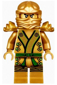Lego Ninjago Gold Ninja Lloyd  BIG  Peel and Stick REUSEABLE Wall Sticker Wall Decal Wall Mural Wall Art. $32.00, via Etsy.