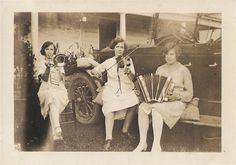 vintage  photo of a girl band  1920's flapper by vintagewarehouse, $7.00
