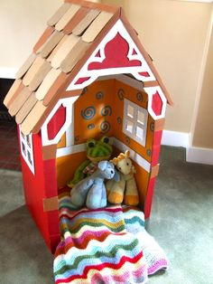 AMAZING Cardboard Playhouses Kids will Love!