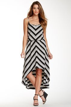 Seven7 Chevron Print Hi-Lo Dress