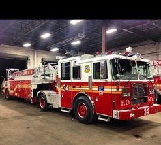 FDNY New Tiller Truck, Ladder 34.