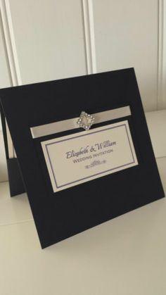 Personalised Pocket Style Wedding Invitations RSVP & Gift List