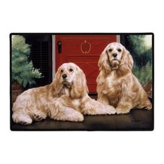 Doormat  D102 Cocker Spaniels  18 x 27 IndoorOutdoor Designer Mat *** Check out the image by visiting the link.