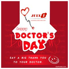 Say A Big Thank You To Your Doctor. Happy #DoctorDay 01.07.2016