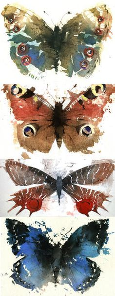 Butterfly Watercolor Art- By~ Kate Osborne Butterfly Watercolor, Watercolor Animals, Watercolor And Ink, Watercolour Painting, Watercolours, Butterfly Artwork, Painting & Drawing, Art And Illustration, Art Aquarelle