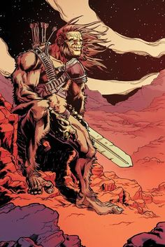 'Bigfoot: Sword of the Earthman'  'The dying planet needed a hero… what they got was a sasquatch. Bigfoot - Sword of the Earthman isn't the story of how Bigfoot became a myth on Earth. It's the story of how he became a legend of the stars…'  Artist: Andy Taylor