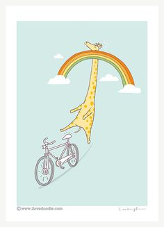 beware of illusions, because often they are too real! beware of the rainbow!  --well, this is just cute instead *LOL*