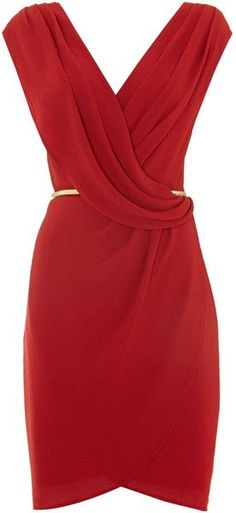Untold Red Dress Wrap Over- Lyst