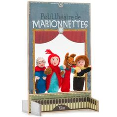 Londji Little Red Marionettes Finger Puppet Theatre