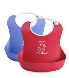 Amazon.com: BABYBJORN Soft Bib 2 Pack - Red/Blue: Baby