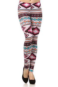 Tribal Print Leggings / Bella Vixen Couture