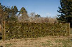 Woven willow fence on SunRidge School Campus