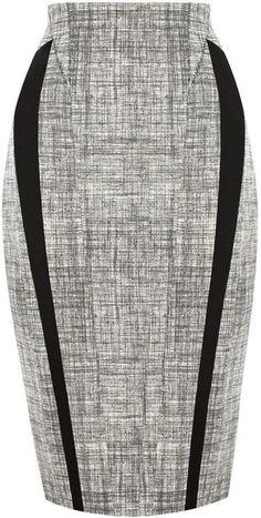 Karen Millen Texture Pattern Ponte Skirt - Lyst  http://www.lyst.com/  المجموعة كاملة  karen-millen/hgl